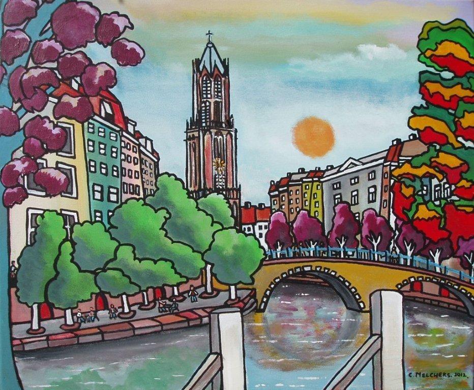 Utrecht met oude gracht