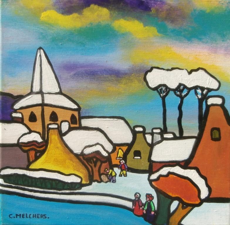 Winters dorp