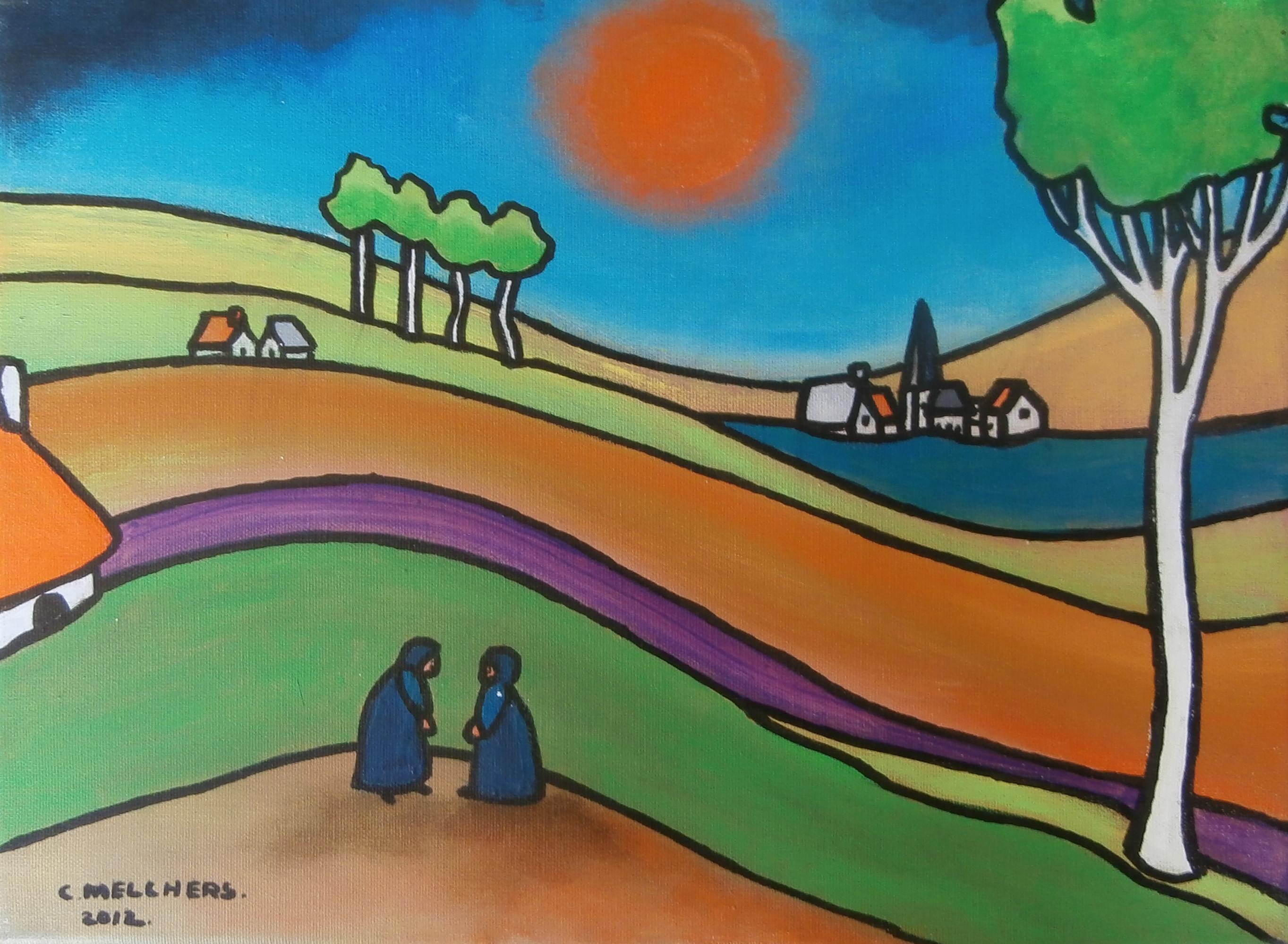 2 Blauwe Vrouwen in Heuvelland